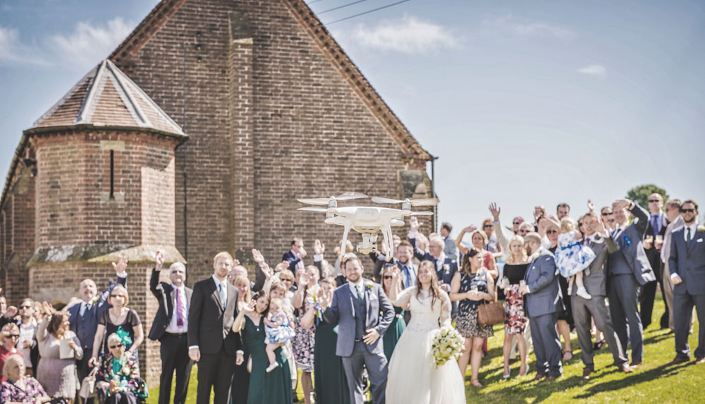 Make money with your drone for wedding recording