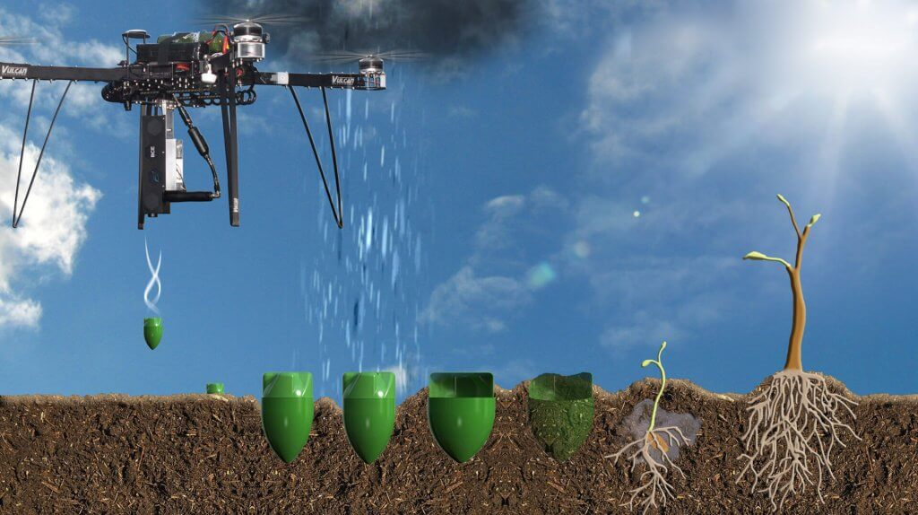 Agriculture Drone Planting