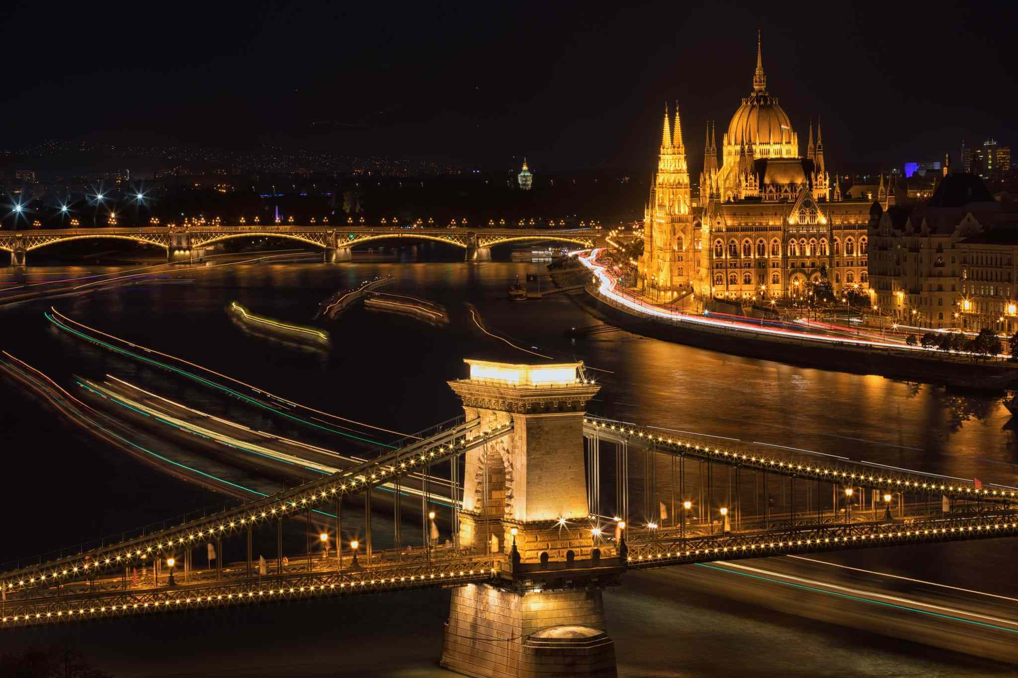 Budapest by drone
